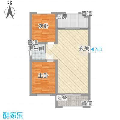 三秀公馆8.20㎡户型2室2厅1卫1厨