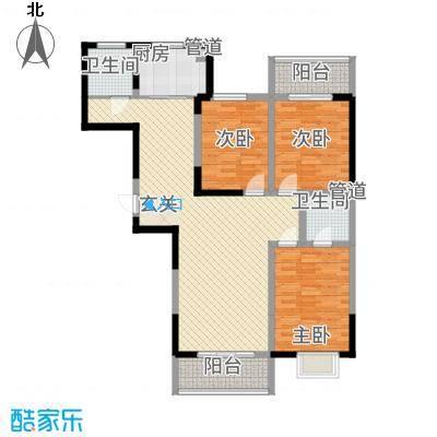 澳达玫瑰园12.00㎡户型3室2厅2卫1厨