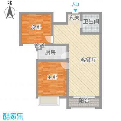 石山新天地8.10㎡7#B1户型2室2厅1卫1厨