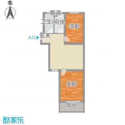 石山新天地1.82㎡5#B3户型2室2厅1卫1厨