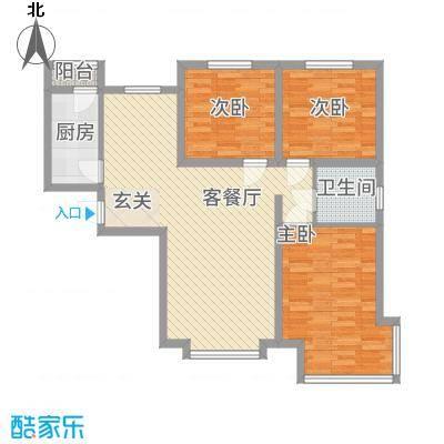 京润现代城113.00㎡3户型3室2厅1卫1厨