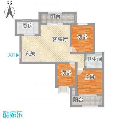 枫桦豪景114.32㎡复件户型