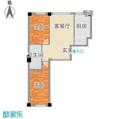 清风竹阁两户型2室2厅1卫1厨