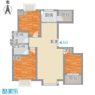 云天学大公寓112.64㎡C2户型3室2厅2卫1厨