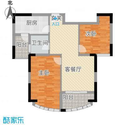 春龙金色海岸8.00㎡G-C5户型2室2厅1卫1厨