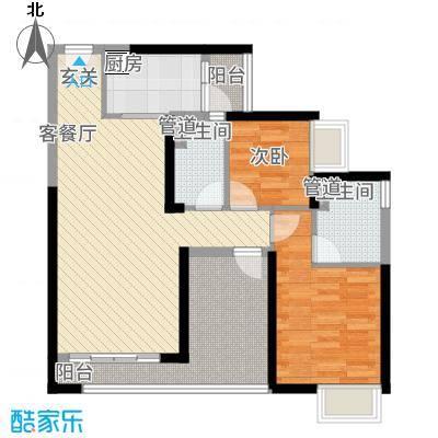 三水・帝景湾85.67㎡12座02单位户型