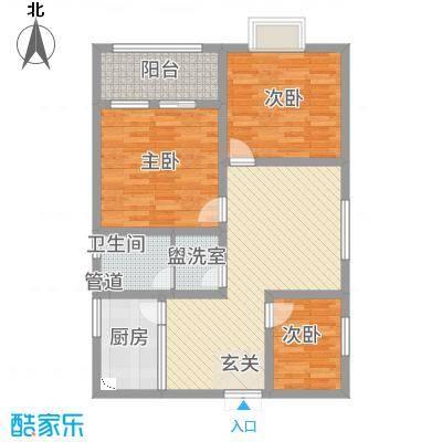 汇景名园18.35㎡C户型3室1厅1卫1厨