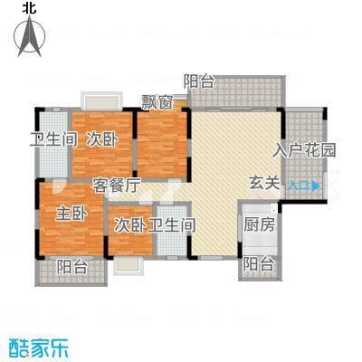 明珠花园148.50㎡B栋01户型4室2厅2卫1厨