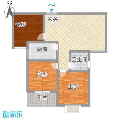 乾达・盛世嘉园114.00㎡A户型3室2厅1卫1厨