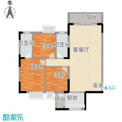 万隆花园14.12㎡C1-320-175户型3室2厅2卫1厨