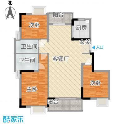 万隆花园135.00㎡B1-320-175户型3室2厅2卫1厨
