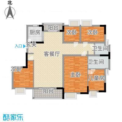 万隆花园18.48㎡B2-320-175户型5室2厅2卫1厨