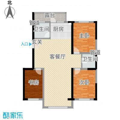 圣鸣鹿苑2#楼户型3室2厅1卫1厨