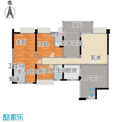广和・澳海城11.81㎡8号楼1座O-201单元户型3室2厅3卫1厨