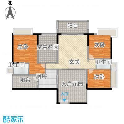 广和・澳海城155.00㎡8号楼2座L03-04单元户型3室2厅2卫1厨