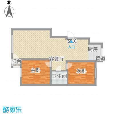 学府名城4.78㎡高层G3户型2室2厅1卫