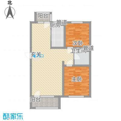 筑景・橡树湾8.70㎡1户型2室2厅1卫
