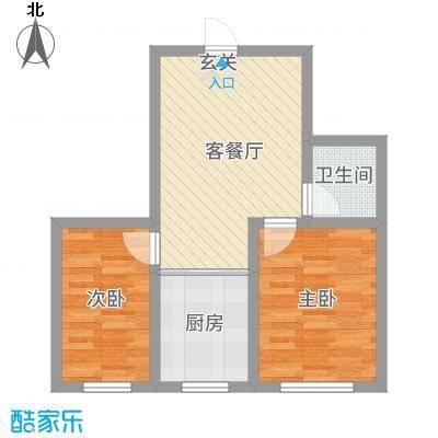 金洲家园63.00㎡户型2室1厅1卫1厨
