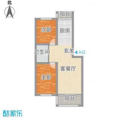 金洲家园85.86㎡户型2室1厅1卫1厨
