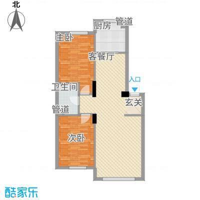 金港翠园【】主力户型2室2厅
