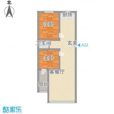 恒顺世纪中心5.50㎡3#楼G户型2室2厅1卫