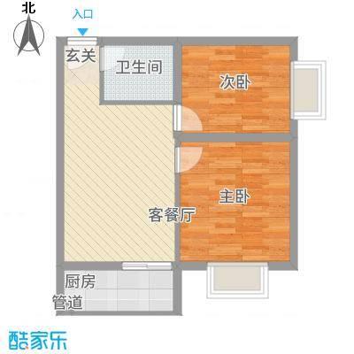 金域尚书苑66.00㎡看板6户型2室1厅1卫1厨