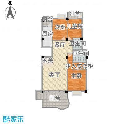 龙汇花园166.70㎡三居室II型户型