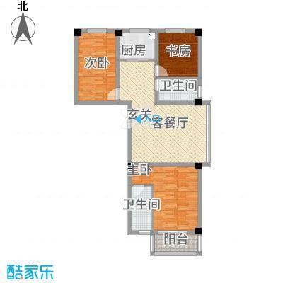 万洲国际116.10㎡G户型3室2厅2卫