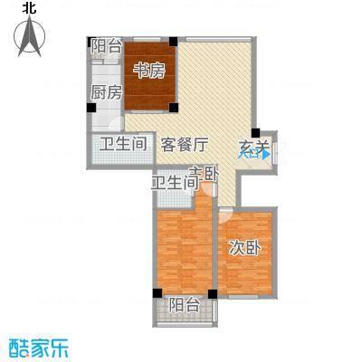万洲国际136.85㎡F户型3室2厅2卫