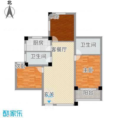 万洲国际12.85㎡E户型3室2厅2卫