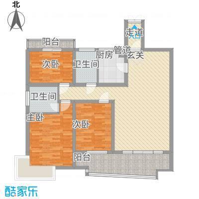 林之苑113.18㎡5栋03户型3室2厅2卫1厨