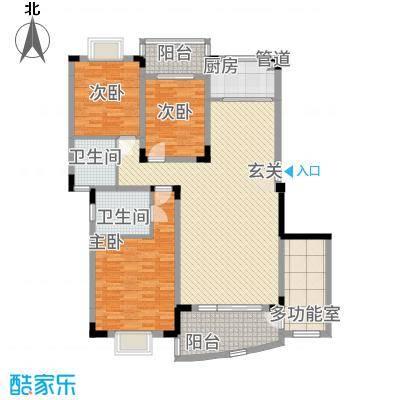 林之苑142.31㎡8栋01户型3室2厅2卫1厨