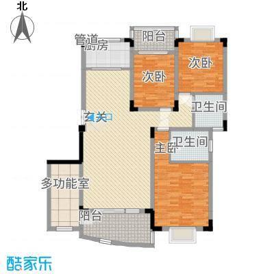 林之苑142.31㎡8栋04户型3室2厅2卫1厨