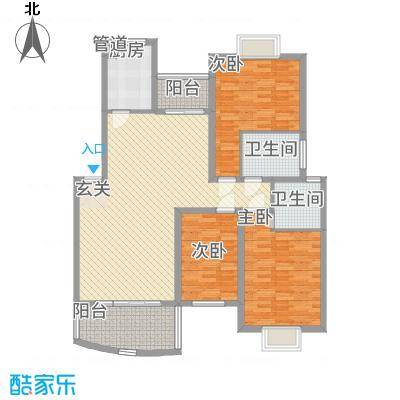 林之苑128.00㎡7栋02户型3室2厅2卫1厨
