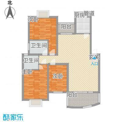 林之苑12.00㎡7栋03户型3室2厅2卫1厨