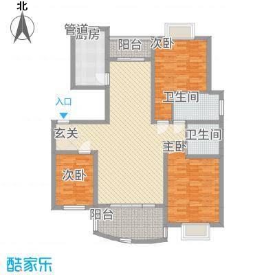 林之苑128.17㎡7栋4户型3室2厅2卫1厨