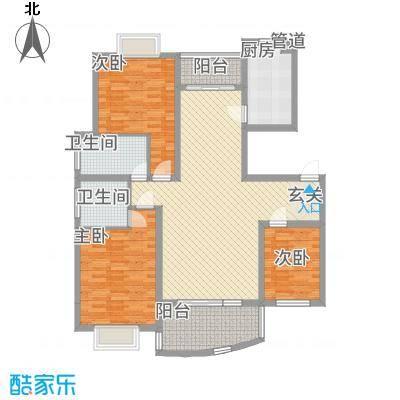 林之苑128.17㎡7栋01户型3室2厅2卫1厨