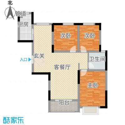 城市旺点121.80㎡D-3/E-3/F-3户型3室2厅1卫