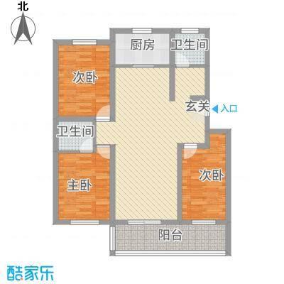 雅阁花园112.00㎡户型3室2厅2卫1厨