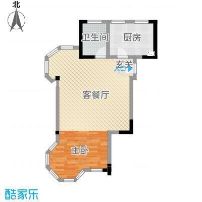 高成上海假日75.51㎡户型