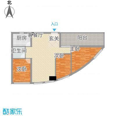 兴业中心(杏林兴业银行大厦)123.60㎡兴业中心E户型3室2厅2卫1厨