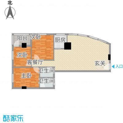 兴业中心(杏林兴业银行大厦)131.70㎡兴业中心C户型3室2厅2卫1厨