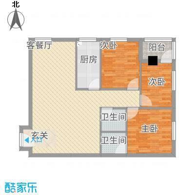 兴业中心(杏林兴业银行大厦)14.60㎡兴业中心A户型3室2厅2卫1厨