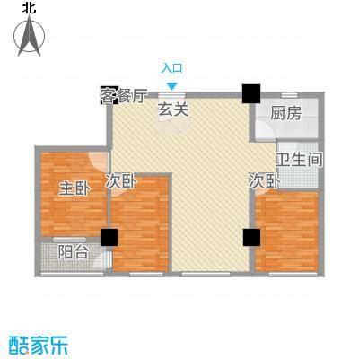兴业中心(杏林兴业银行大厦)136.30㎡兴业中心D户型3室2厅2卫1厨