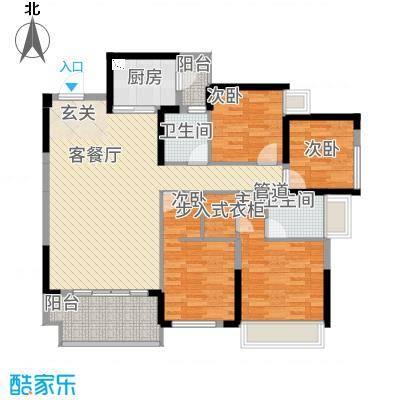 富港新城2户型2室2厅1卫1厨