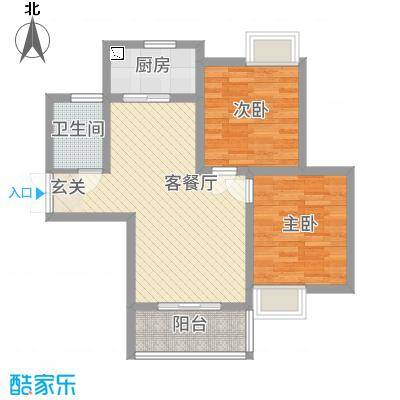 佳腾大厦户型2室