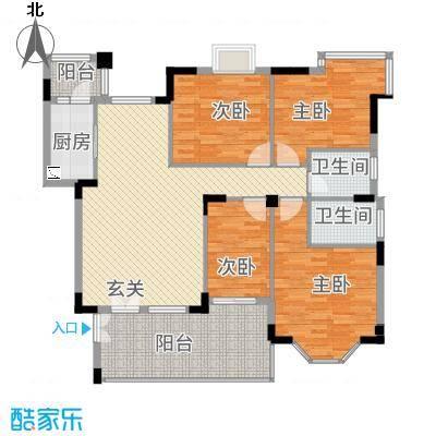 文华花园153.00㎡书香门第02户型4室2厅2卫