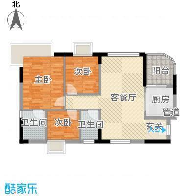海逸华庭12.00㎡户型3室