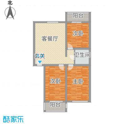丰禾新家园125.40㎡D户型2室2厅1卫1厨