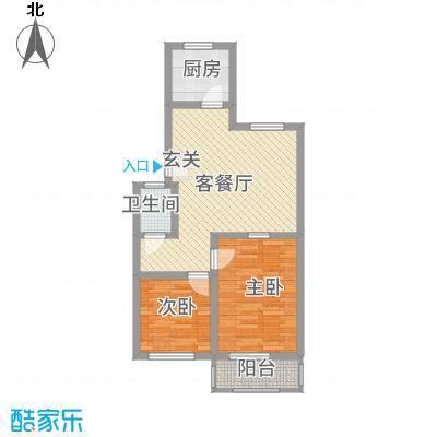丰禾新家园76.25㎡K户型2室1厅1卫1厨